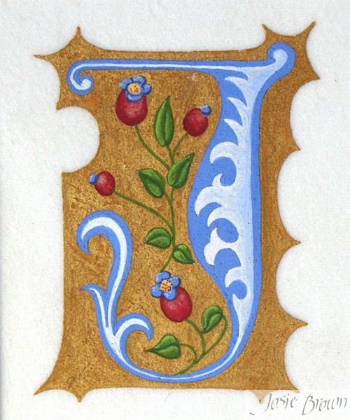 Josie Brown Calligraphy Heraldry Illumination Gilding
